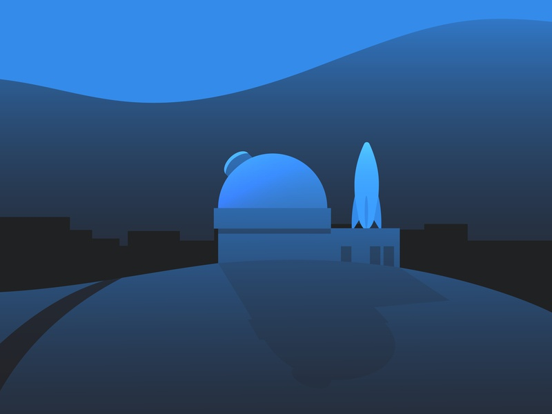 Asan Space Homepage Illustration space observatory dusk