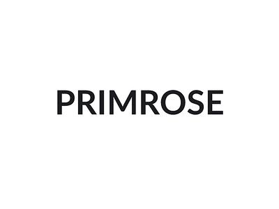 Primrose Logo primrose prm typography logo