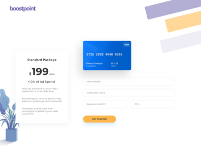 Boostpoint - Payment Form ads payment design dailyui app