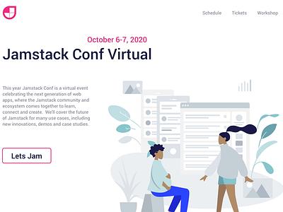 Jamstack Conf - Landing Page design conference jamstack dailyui landing page