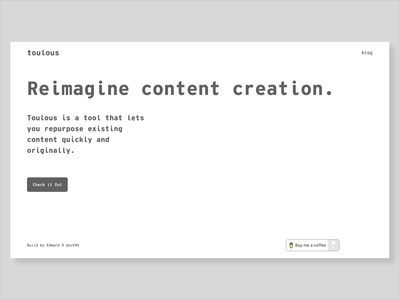 Toulous - Landing Page content landing page