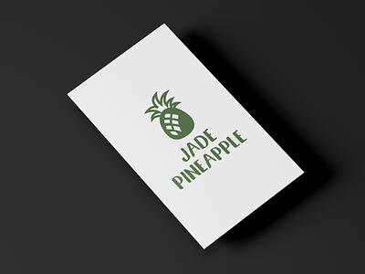 Jade Pineapple Studios illustration typography logo branding design