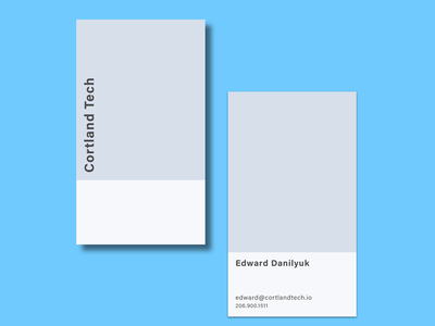 Cortland Tech Business Card minimal flat typogaphy rebound business card