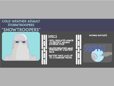 Snowtrooper - Stormtrooper Infographic icon design infographic stormtrooper
