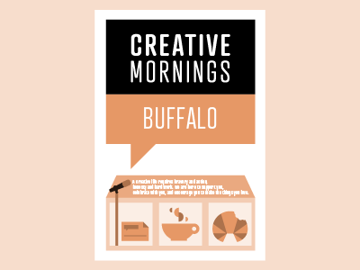 Creative Mornings Buffalo - 1 year anniversary - infographic