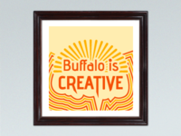 """Buffalo is Creative"" Mini poster"