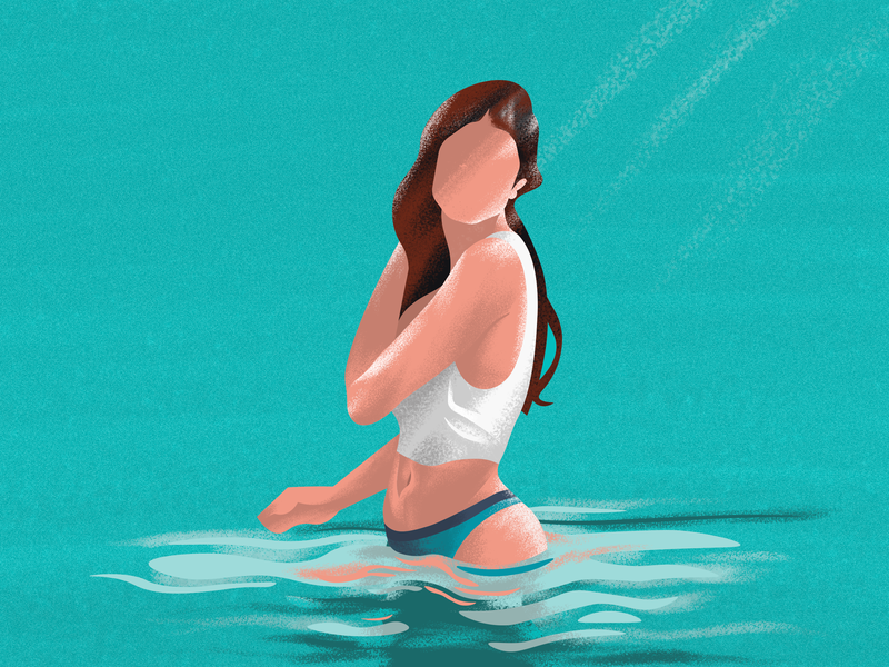 Happiness comes in waves beach bath water charecter design charactedesign actress nature girl illustration charecter girl design character explore vector minimal art illustrator minimal photoshop painting illustration
