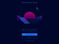 Dawnpatrol start screen