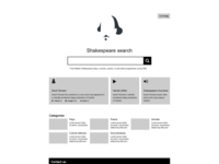 BBC Shakespeare archive wireframe