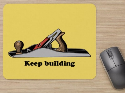 Mousepad - Keep building planer woodworking mousepad