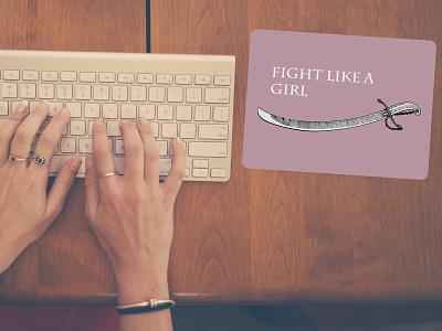Mousepad - Fight like a girl girl mousepad