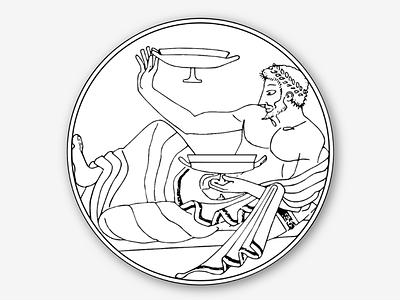 Sticker - Dionysus dionysus libations wine greek sticker