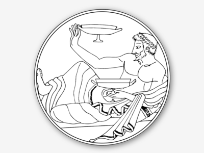 Sticker - Dionysus dionysus libations wine greek sticker