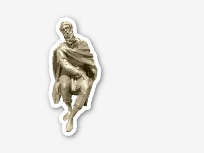 Statue Sticker royalty robe classic sticker