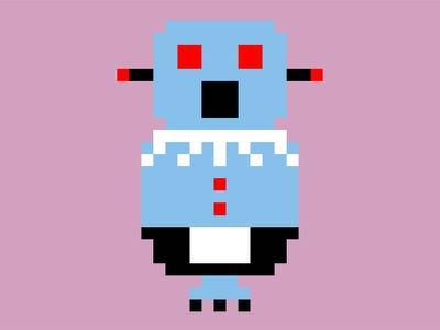 Rosie Robot from the Jetsons pixel art 8bit jetsons robot illustration css svg