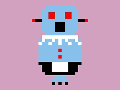 Rosie Robot from the Jetsons pixel art 8bit jetsons robot illustration css svg