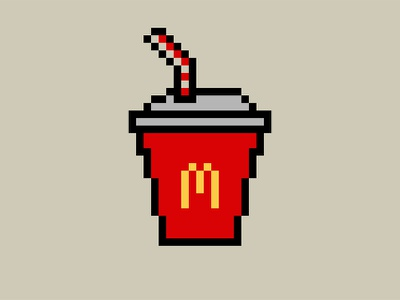 Mcdonalds Drink - SVG pixel art mcdonalds pixel art svg