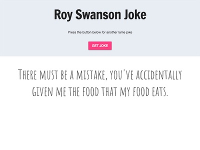 UI - Roy Swanson Joke randomizer javascript code ui