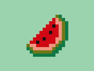 SVG pixel art - Watermelon