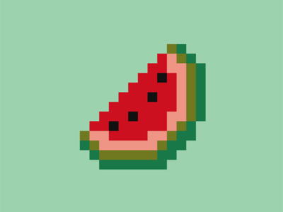 SVG pixel art - Watermelon