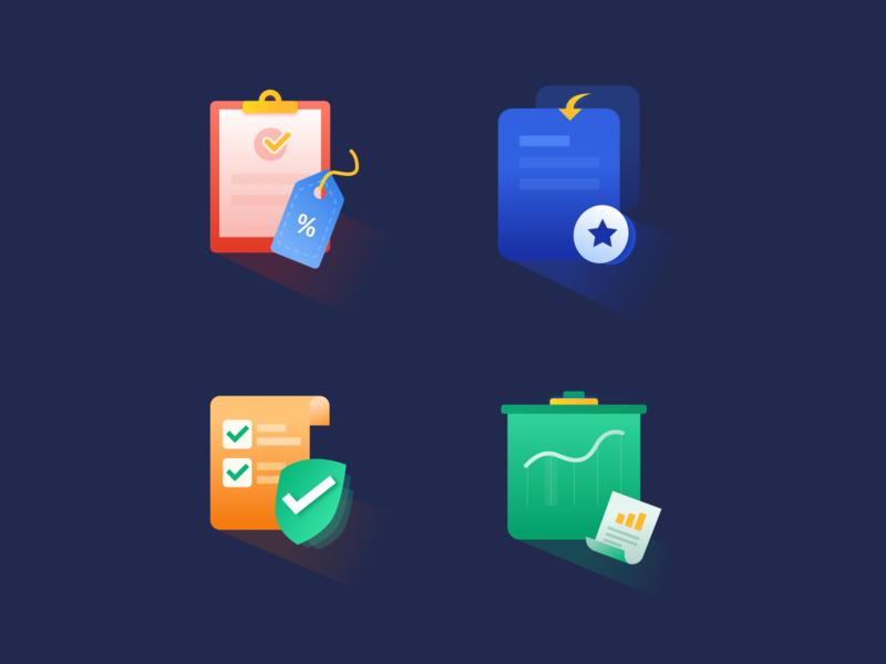 Series icon about file label file label