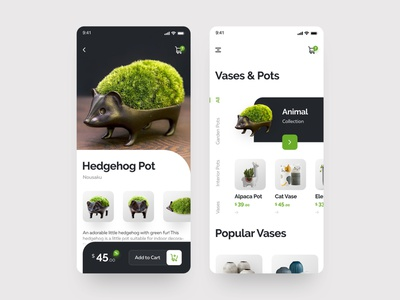 🌱Plant Pots App design app concept plant mobile app ios interface daily ux ui