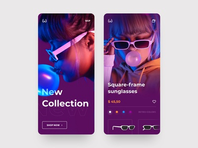 Glasses Store App product shop mobile inspiration ios app daily design web ux ui