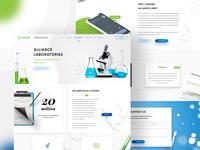 Alliance Laboratories website design