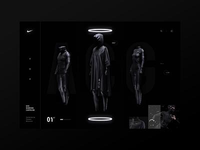 Nike ACG | Homepage Concept minimal minimal adobe adobe concept landing page homepage sport nike dark daily black ux design ui site web