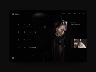 The British Hairdressing Awards Concept minimal adobe award webdesign fashion homepage dark daily black ux design ui site web