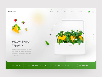 Free Concept - Smart Garden agency smart home concept sketch freebie free minimal homepage daily adobe ux ui design web