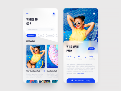 Mobile App Concept - Where to Go? adobe mobile app inspiration product mobile ios cards design web ux ui entertainment rest online daily app
