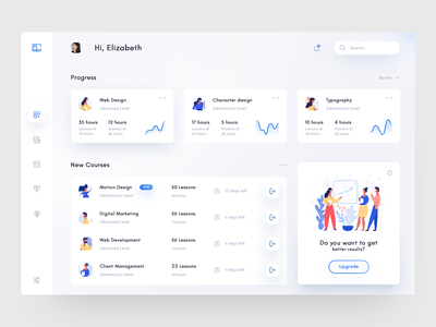 Online Course Dashboard adobe daily design web ux ui dashboard template inspiration education learning app course app online course dashboard study learn course