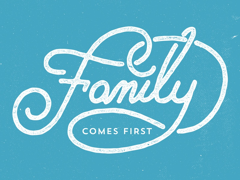 Family logo graphic design typography type lettering vintage old retro identity texture grunge