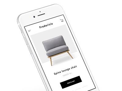 Fredericia 2 minimalism minimal furniture ecommerce app