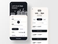 Bus booking app ux uiux app ui trip travel town ticket booking ticketapp ticket modern icon illustration clean city bus app booking book black appdesign app