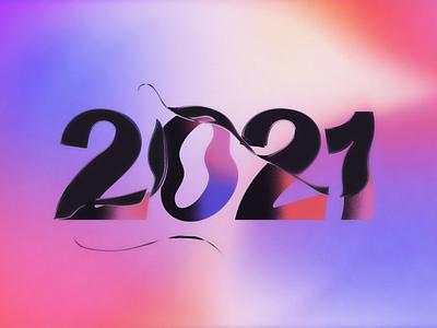 2.0.2.1 numbers type liquid trends design gradient typography 2021