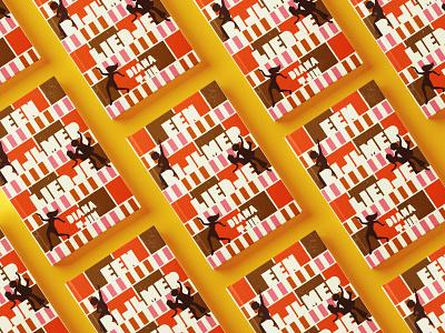 Een Bijlmerliedje amsterdam urban dancing soul retro 70s typography illustration book book cover