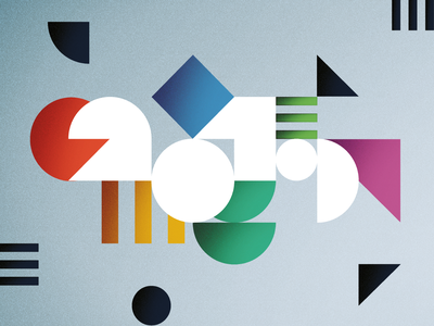 2019 TREND REPORT cover trend report trends shapes geometric numbers type typography 2019