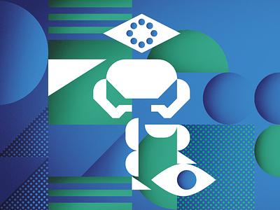 Superhuman Resources artificial intelligence ai technology superhero illustration vector geometric 2019 report trend trends