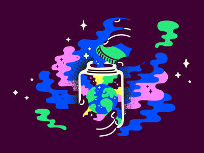 End of Excess plastic sustainable world climate waste rainbow hands jar earth 2019 vector illustration sustainability