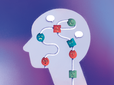 Social Learning science illustration social skills intelligence brains thesis psychology learning social