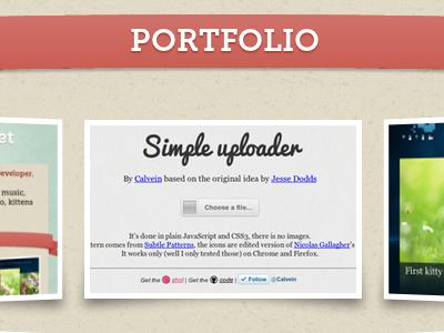 Portfolio Redesign portoflio css3 htlm5