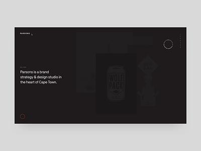 Parsons Website webgl interaction design design web makereign typography ui