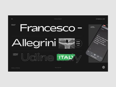 Website Concept minimal interaction design web typography ui