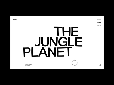 Forest Planet aftereffects octane cinema4d interaction web ui typography