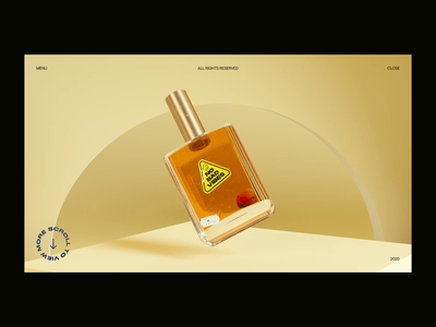 Fragrance Bottle Spin aftereffects octane cinema4d interaction typography ui