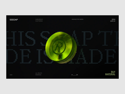 Subsurface Scattering sss octane web interaction typography ui