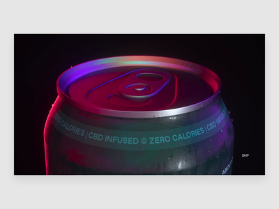 CDB Drink aftereffects cinema4d octane design interaction web typography ui