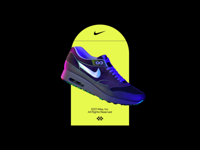 Air max nike air max nike octan c4d interaction web typography ui